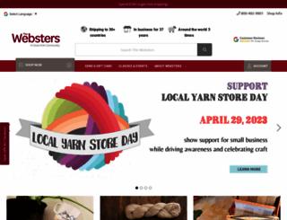 yarnatwebsters.com screenshot