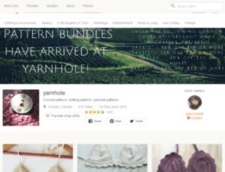 yarnhole.etsy.com screenshot