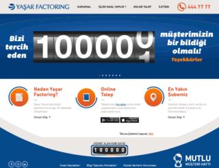 yasarfactoring.com.tr screenshot