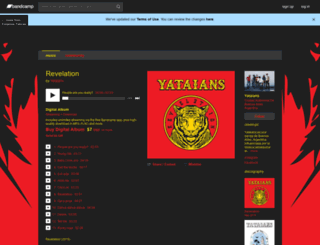 yataians.bandcamp.com screenshot