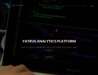 yatrusanalytics.com screenshot