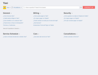 yaxi.helpshift.com screenshot