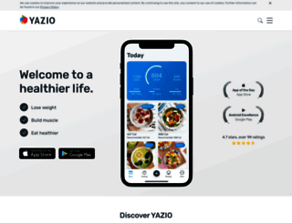 yazio.com screenshot