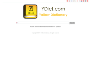 ydict.com screenshot