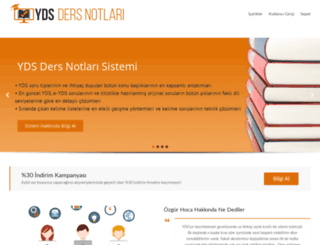 ydsdersnotlari.wordpress.com screenshot