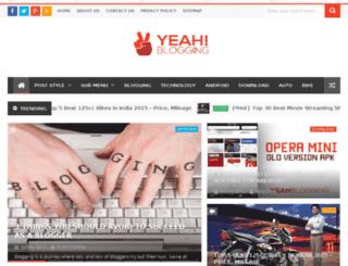 yeahblogging.com screenshot