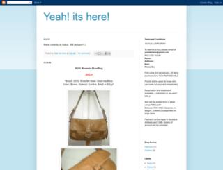 yeahitshere.blogspot.com screenshot
