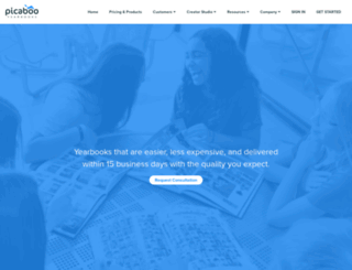 yearbooks.picaboo.com screenshot