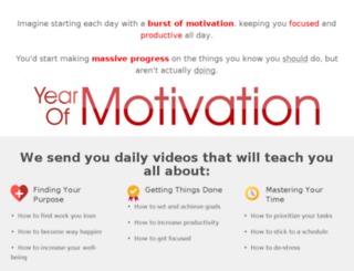 yearofmotivation.com screenshot