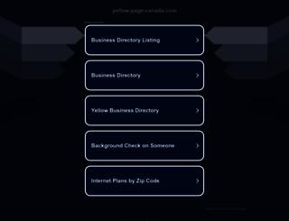 yellow-page-canada.com screenshot