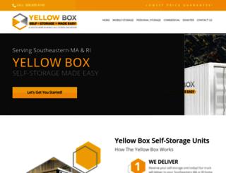 yellowboxstorage.com screenshot