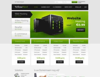 yellowhosting.be screenshot