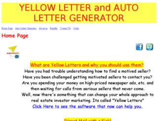 yellowletter.net screenshot