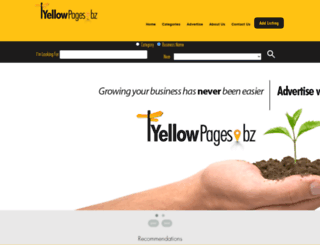 yellowpages.bz screenshot