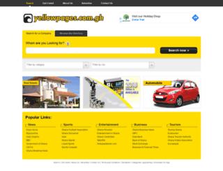 yellowpages.com.gh screenshot