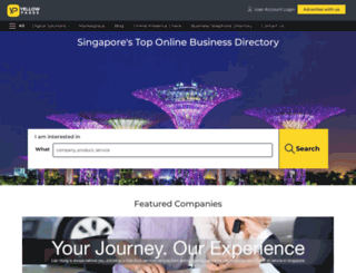 yellowpages.com.sg screenshot