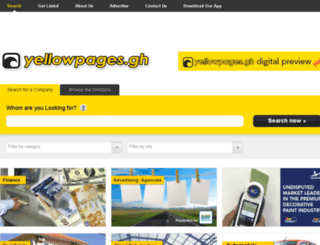 yellowpages.gh screenshot