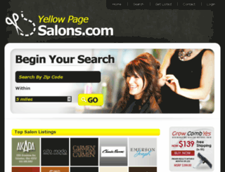 yellowpagesalons.com screenshot