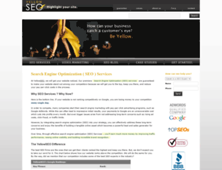 yellowseo.com screenshot