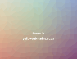 yellowsubmarine.co.za screenshot