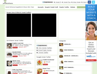 yemeksoframiz.com screenshot