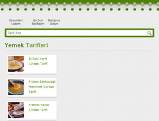 yemektarifleri.yolcuyuz.org screenshot