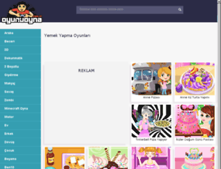 yemekyapma.oyunuoyna.com.tr screenshot