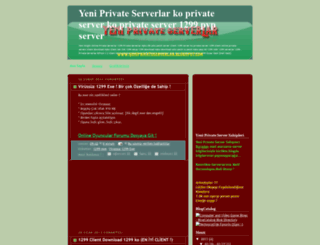 yeniprivateserverlar.blogspot.com screenshot