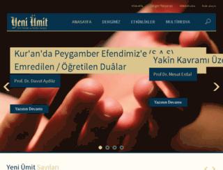 yeniumit.com.tr screenshot