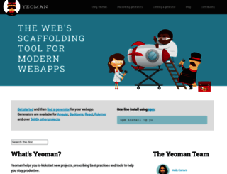 yeoman.io screenshot