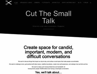 yes.cutthesmalltalk.com screenshot