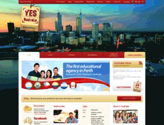 yesaustralia.com.br screenshot