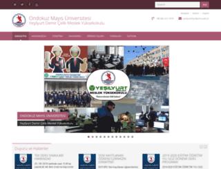 yesilyurtmyo.omu.edu.tr screenshot