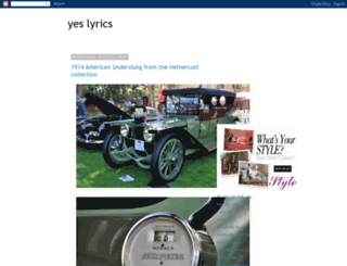yeslyrics.blogspot.com screenshot