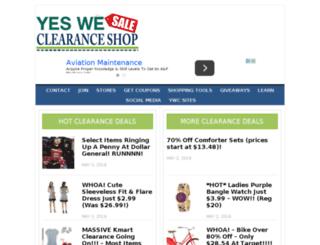 yesweclearanceshop.com screenshot