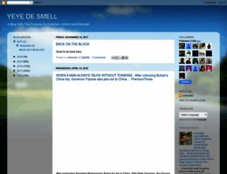 yeyedesmell.blogspot.com screenshot