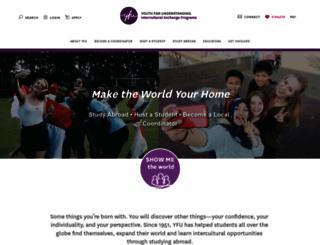 yfu-usa.org screenshot