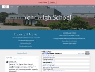 yhs.yorkschools.org screenshot