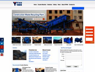 yifancrusher.net screenshot