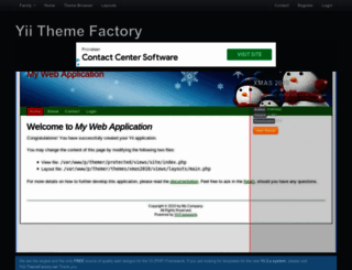 yii.themefactory.net screenshot