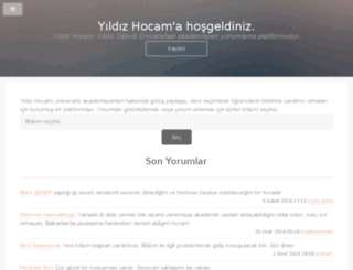yildizhocam.com screenshot