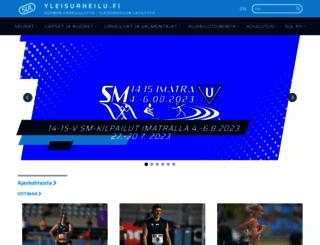 yleisurheilu.fi screenshot