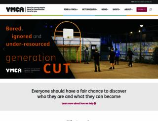 ymca.org.uk screenshot