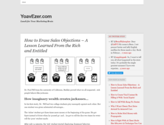 yoavezer.wordpress.com screenshot