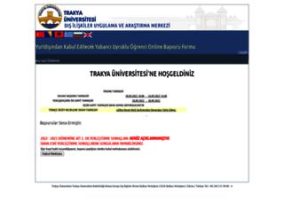yobs.trakya.edu.tr screenshot