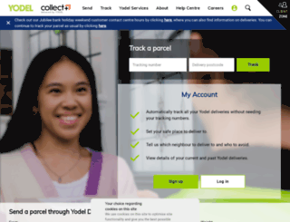 yodel.co.uk screenshot