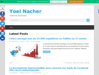 yoelnacher.com screenshot
