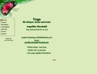 yoga-angelika-theobald.de screenshot