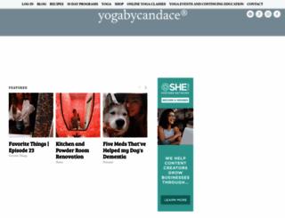 yogabycandace.com screenshot