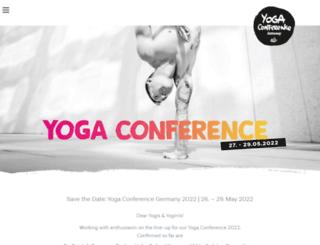 yogaconference.de screenshot